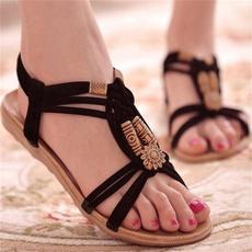 bohemia, Summer, Flip Flops, Fashion