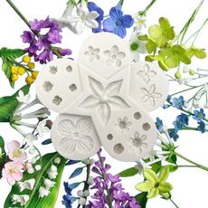 Flowers, Baking, Silicone, Fondant