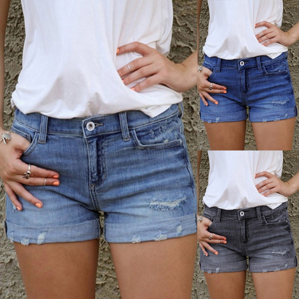 womens jeans, Shorts, womensfashiondenimshort, femalepocketswashdenimshort
