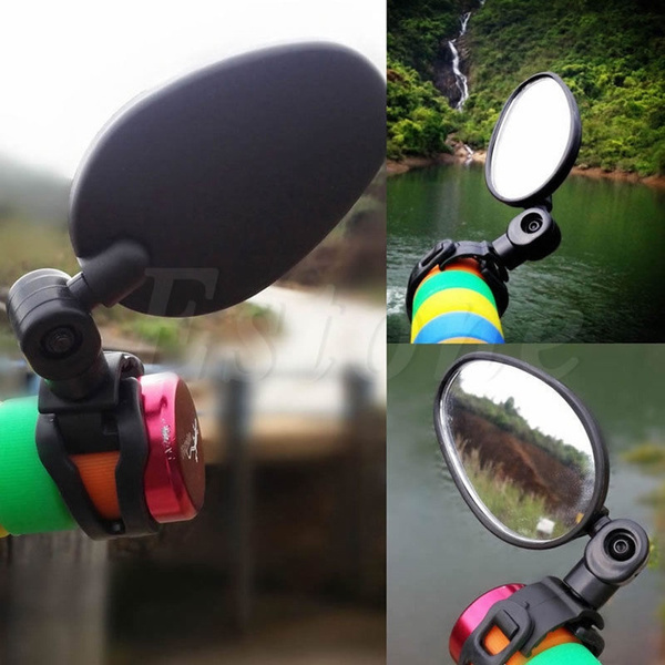 360° Rotate Bike Rearview Mirror Cycling Bicycle Safety Motorcycle Rear View*