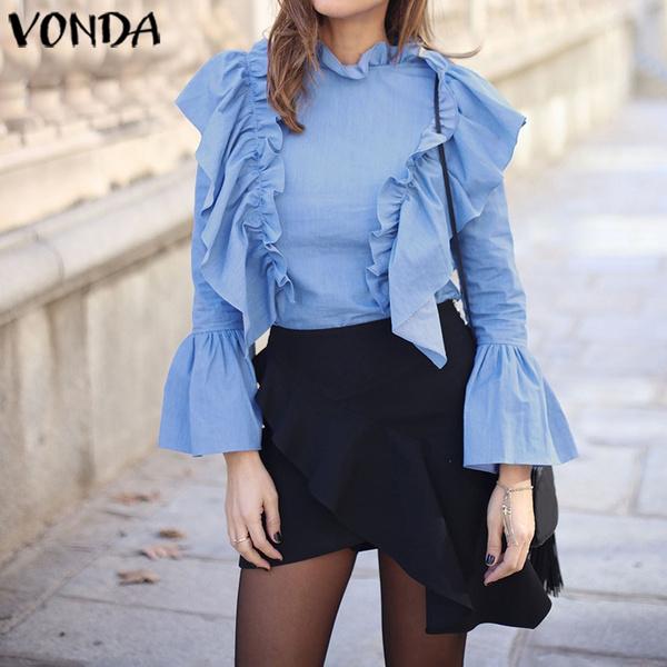 shirtsforwomen, blouse, Plus Size, ruffle