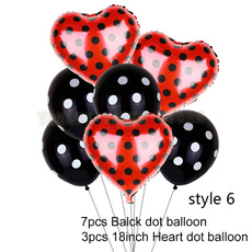 Shower, ladybug, latex, redballoon