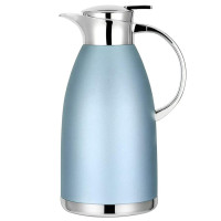 Fdit 1.5L//2L Coffee Tea Pot Stainless Steel Double Wall Vacuum Insulated Pot Thermo Jug Hot Water Bottle Silver 1.5L Renewed