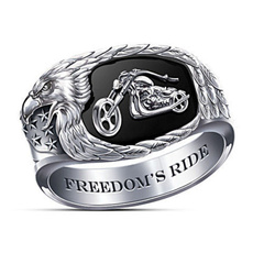 Men Jewelry, ringsformen, eaglering, 925 silver rings