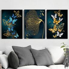 butterfly, canvasoilpainting, Bathroom, Modern