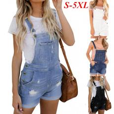 miniromper, Plus Size, Summer, Jeans