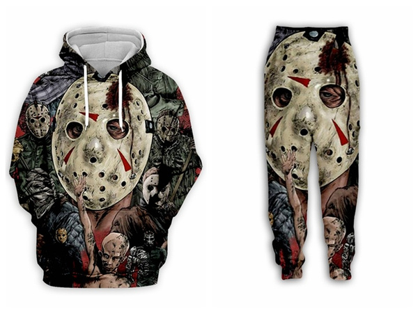 3D hoodies, Horror, Casual pants, pants