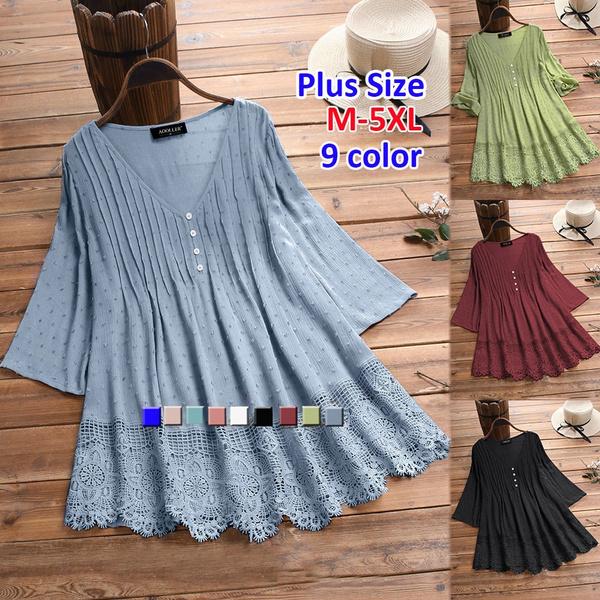 blouse, Plus Size, Chiffon top, 34sleeve