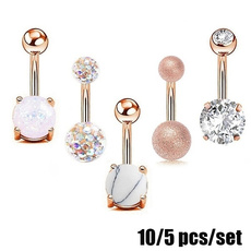 Steel, navelbellybutton, navel rings, Jewelry