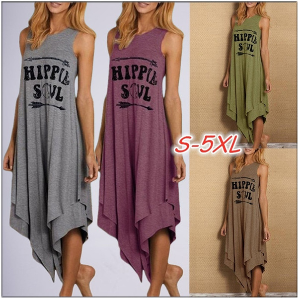 Summer, Plus Size, hippie, long dress