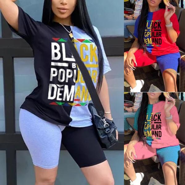 Summer, setsforwomen, Fashion, shortswithtshirt