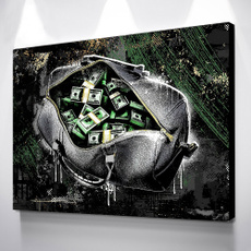 painting, Wall Art, canvaspainting, moneyposter