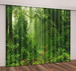 forestwindowcurtain, bedroom, blackoutcurtain, windowtreatment