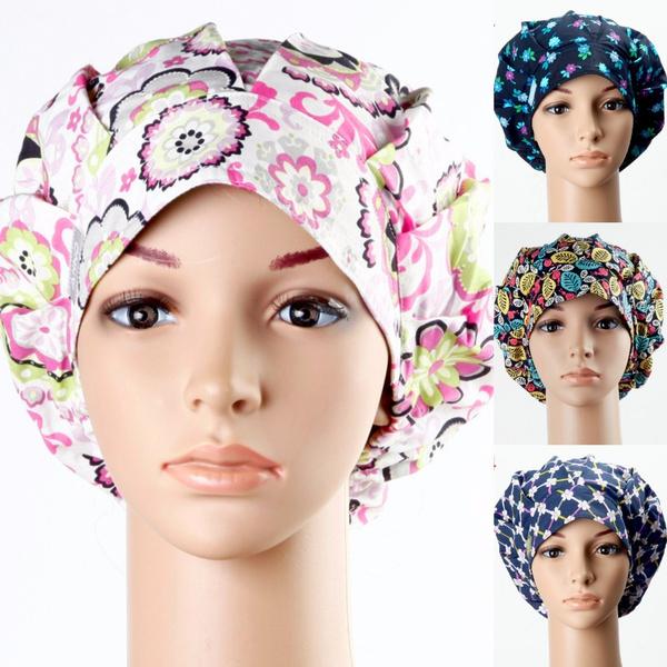 haircap, Floral, Elastic, surgicalhat