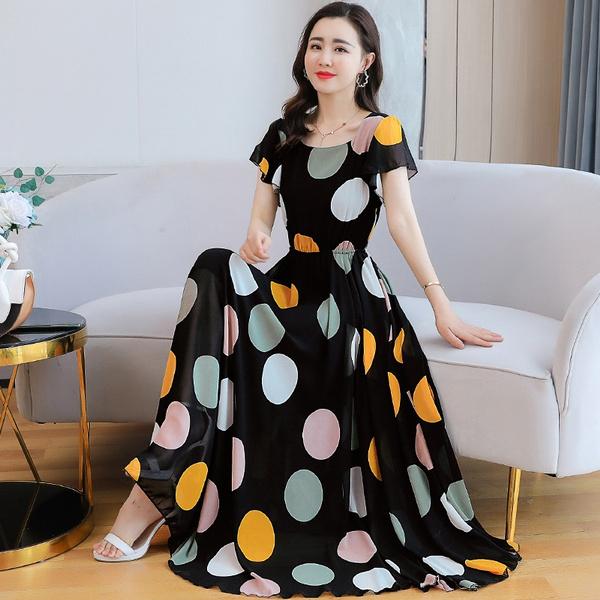 slim dress, long skirt, short sleeve dress, Waist