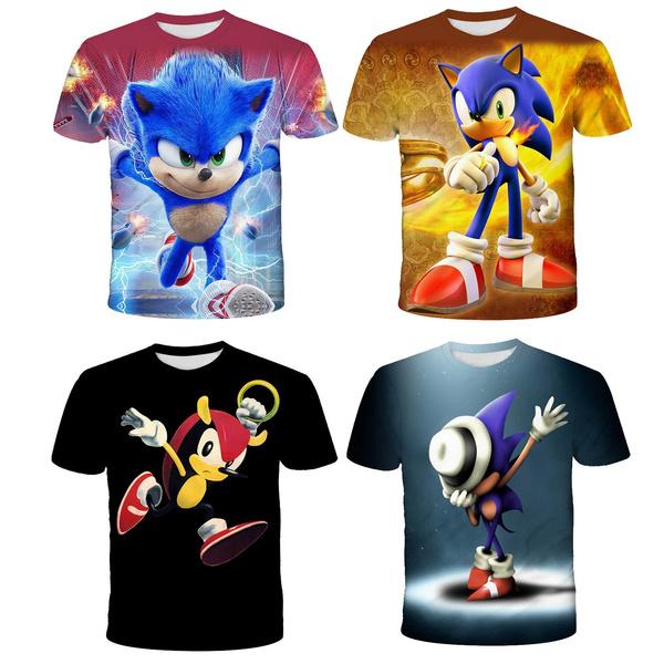sonic, Fashion, Shirt, Sleeve