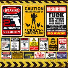 plaquesampsign, Outdoor, warningsign, Home Decor