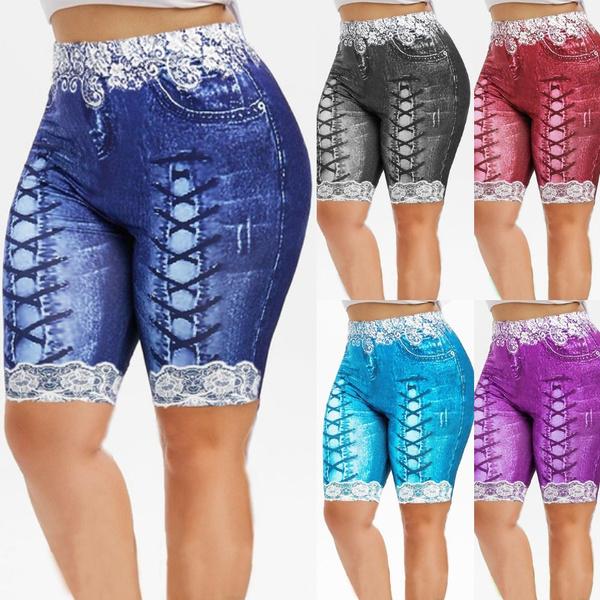 Summer, Leggings, Plus Size, Lace