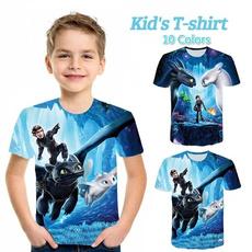 Summer, cute, Tee Shirt, dragon