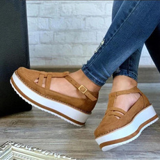 Summer, Plus Size, Flats shoes, Hollow-out
