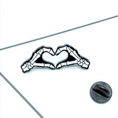 Love, Jewelry, Pins, skeletonwatch