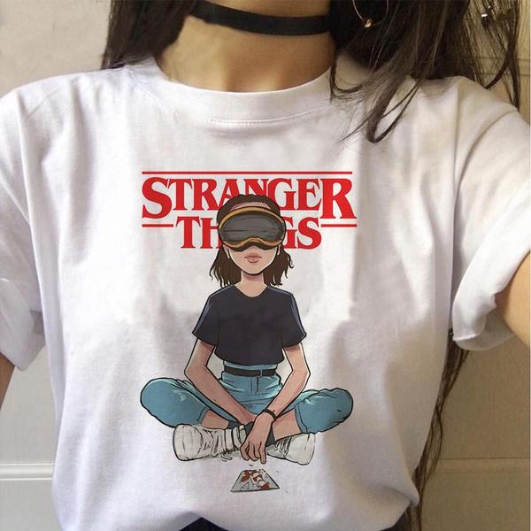 mujer, para, stranger, camiseta