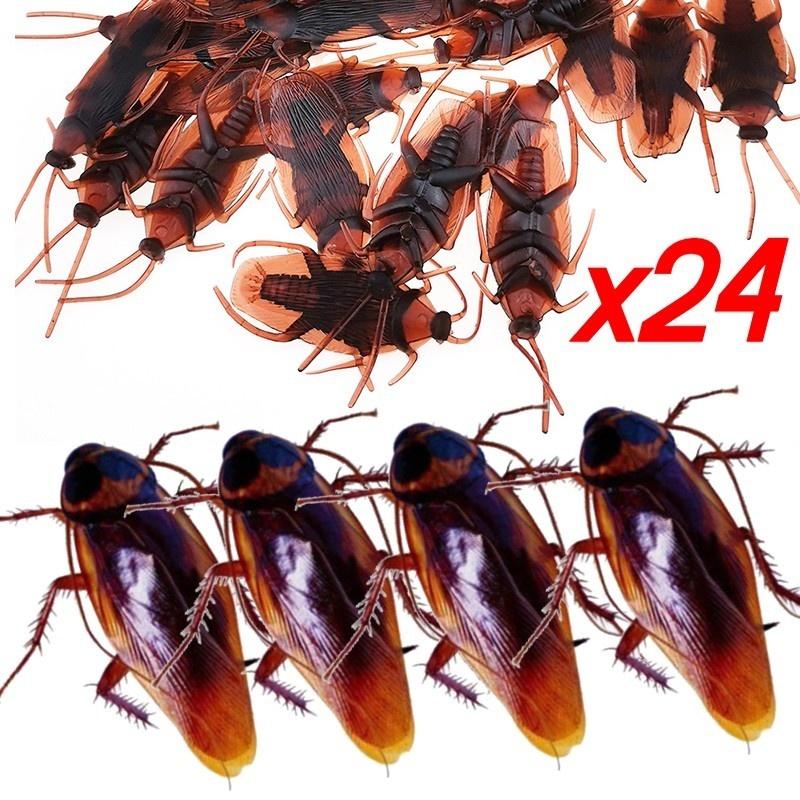 10Pcs//lot simulation fake rubber cockroach  funny toy special lifelike model 4H