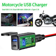 motorcycleaccessorie, 12v24vledmotorcyclecarusbcharger, usb, Waterproof