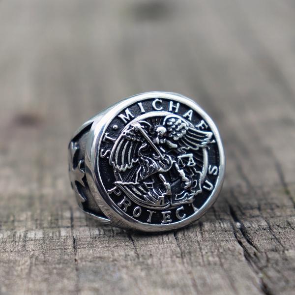 Steel, punk rings, Jewelry, Angel