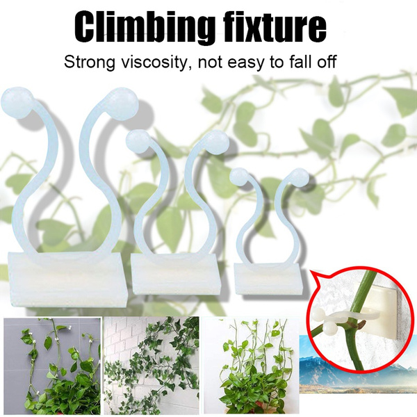 Vine Plant Climbing Wall Fixer Self-Adhesive Hook Climbing Plant Support Clips 0.4x0.6x0.8inch-100pcs Plant Climbing Wall Fixture Clips,Invisible Wall Vines Fixture Wall Sticky Hook