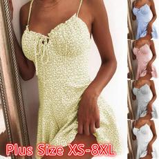 Mini, slim dress, Plus Size, Floral print