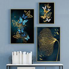 butterfly, canvasoilpainting, Decor, art