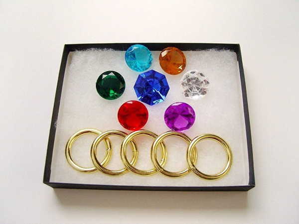Toys & Games, Emerald, sonic, ringset