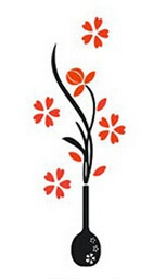 Fashion wall sticker, Stickers, Vases, decoration