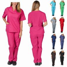 sleeve v-neck, workinguniform, scrubset, Sleeve