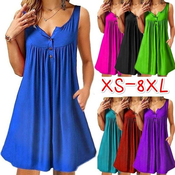 Summer, Plus Size, Dress, tank top