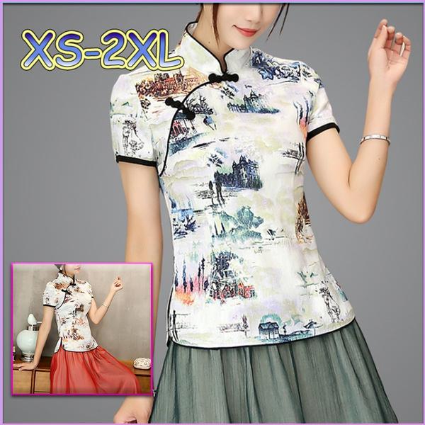blouse, Woman, Shirt, Chinese