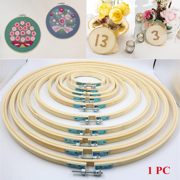 Needle craft Diy Embroidery Hoop Cross Stitch Frame Sewing Tools Round Loop
