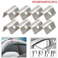 Steel, carwindraindeflectorclip, Stainless Steel, autofastenerclip