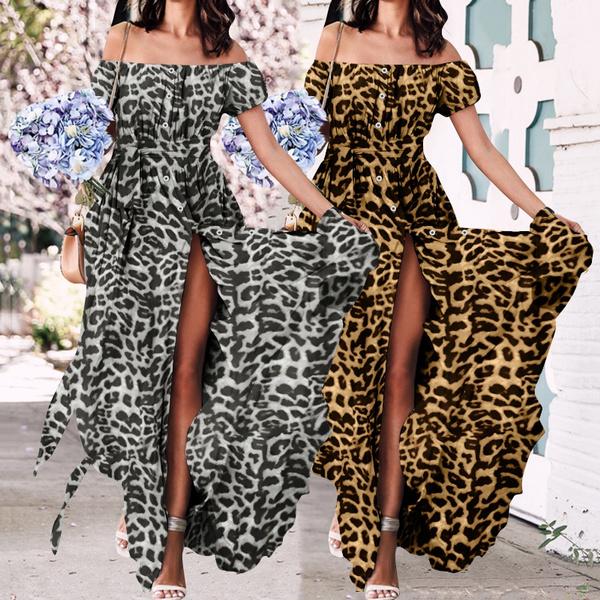 Summer, short sleeve dress, chiffon, long dress