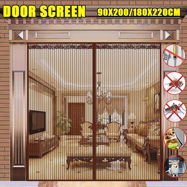 bugscreencurtain, Summer, doorscreenmagnetic, mosquitoscreen