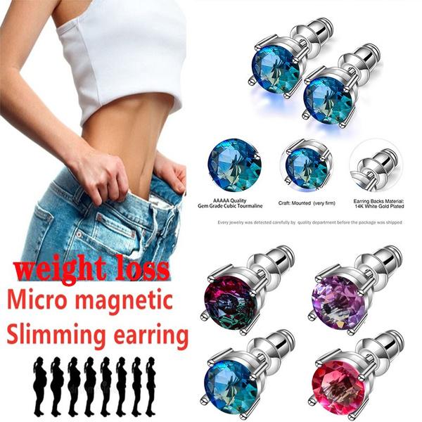 weightlossearring, Blues, DIAMOND, Jewelry