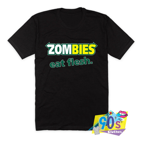 Funny T Shirt, Cotton Shirt, Fashion, zombieseatfleshtshirt