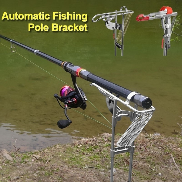 Automatic Rod Lifter Double Spring Fishing Rod Stainless Steel Rod Holder B8A2