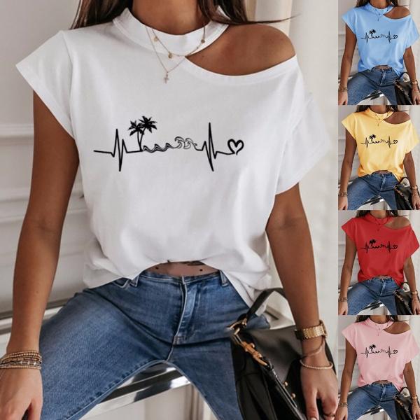 blouse, Round neck, Shorts, Sleeve