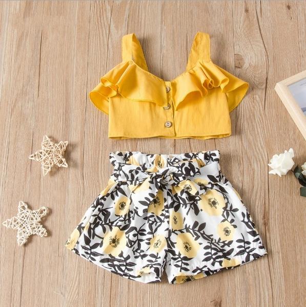 Summer, Shorts, kids clothes, floralclothesset