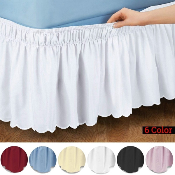 Dust Ruffle Bed Skirt, Wrap Around Bed Skirt Queen Size