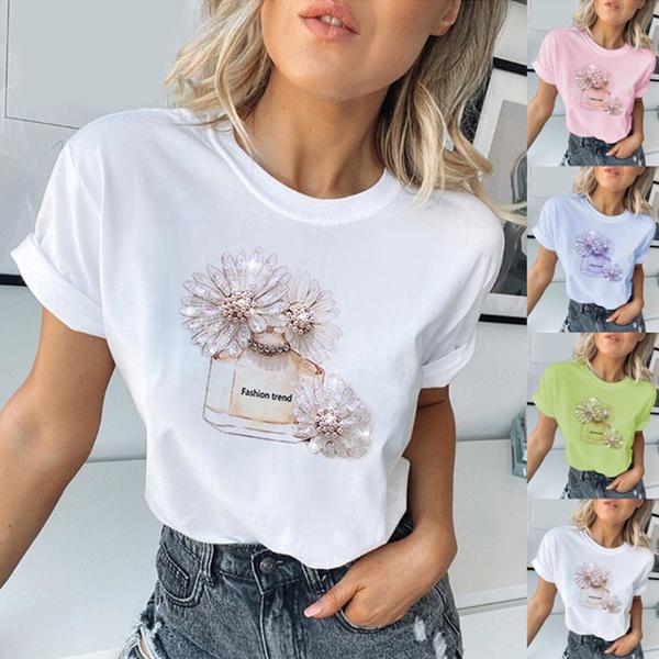 Summer, Fashion, tshirtcottonwoman, Sleeve