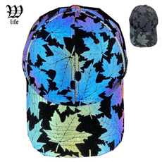 Holographic, leaf, Colorful, unisex
