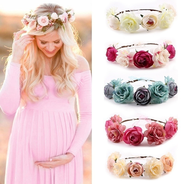 gowns, Head Bands, chiffon, pregnant
